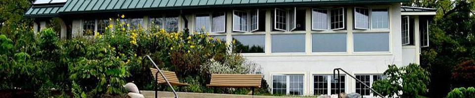 An image of the Nature House, from the outside